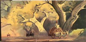 Gideon D. Arul Raj listed California India Mid Century Watercolor Painting