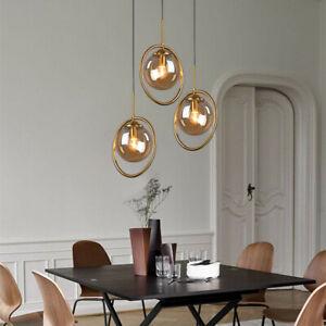 Kitchen Glass Pendant Light Bar Ceiling Lights LED Lamp Gold Chandelier Lighting