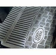 GENUINE LAND ROVER DEFENDER FRONT RUBBER MATS 1999 - 2006 (STC50172)
