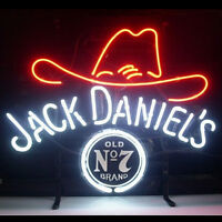 "Jack Daniel's Neon Sign Light Real Glass Tube Beer Bar Pub Wall PosterLED18""x14"""