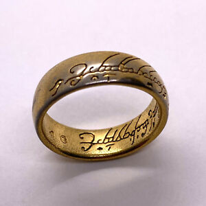 The One Ring Size 9.5 Lord Of The Rings Gold Vintage