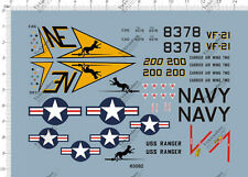 1/48 F4 Vf21 Vf-21 fighter Model Kit Water Decal 10*14cm 63092
