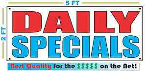DAILY SPECIALS Banner Sign NEW Larger Size