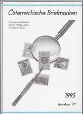 Ö 1995 Jahreszusammenstellung mit Aufstellung Postfrisch ** MNH