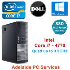 Dell Optiplex 9020 Desktop Computer Core i7 - 4770  PC 16GB Ram 256GB SSD Win 10