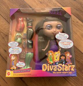 """Diva Starz 8"""" Nikki Talking Interactive Doll #27493 Mattel 2000 New Unopened"""
