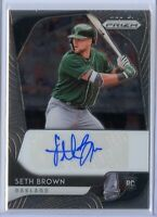 2020 Panini Prizm SETH BROWN Base Rookie AUTO - Oakland Athletics