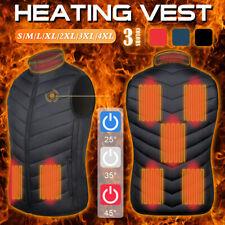 8 Area Heating Vest Electrical USB Port Winter Heated Sleevless Jacket Waistcoat