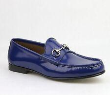 $640 1953 New Gucci Men's Brushed Shiny w/Horsebit Detail Loafer 387598 4236