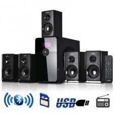 beFree Sound BFS450 5.1 Channel Surround Sound Bluetooth Speaker System in Black