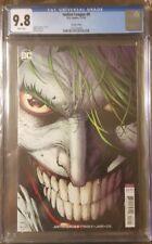 Justice League #8 CGC 9.8 - Jim Lee Joker Variant - DC 2018 -  NM