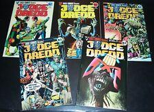 New listing Lot/5 9.4 Nm: Judge Dredd 2 3 4 5 9 Wagner Bolland, Burns, Eagle Comics Bag&Bd