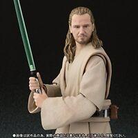 BANDAI S.H.Figuarts Star Wars Qui Gon Jinn Action Figure JAPAN OFFICIAL IMPORT