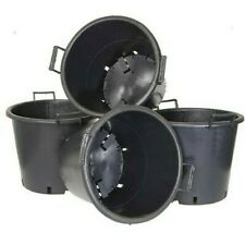 V By Very Pack Of 4 Heavy Duty 30 L Pots With Handles Black