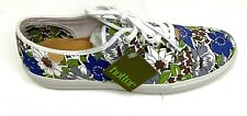 Hotter Comfort Concepts Womens Canvas Sneakers Mabel Floral Blue Green Size 7