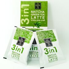 New 3 in 1 instant Matcha green tea Latte Ranong tea brand sweet Thailand drink