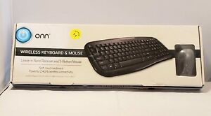 Onn Wireless Keyboard Optical LS6400R and Mouse Nano USB Receiver Combo 2.4GHz