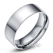 UNIQUE T&T THICK PLAIN Stainless Steel RING Size 11