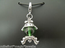20mm Moveable Frog Charm With Green Glass Bead Body & Lobster Claw Clasp