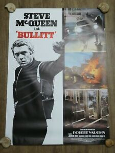 Original vintage Steve McQueen Bullitt german A1 movie poster