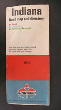 1975 Indiana  road map Standard oil gas food lodging points of interest