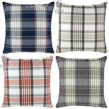 Polyester Checked Contemporary Decorative Cushions & Pillows
