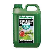 2 X 10l Maxicrop Moss Killer & Lawn Tonic Organic Seaweed Fertiliser Garden Feed