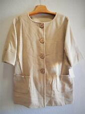 Womens Plus Size 1X Clothes Beige Wool Blend Coat NWT $104 JH Collectibles