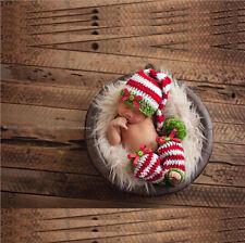 Newborn Baby Boy Girl Crochet Knit  Elf Costume Photography Prop Outfits