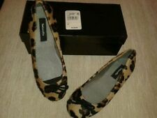Animal Print 100% Leather Ballet Flats for Women