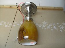 "12V LED PENDANT LIGHT 10"" RV/CAMPER/TRAILER NEW BROWN GLASS SHADE BULB INCLUDED"