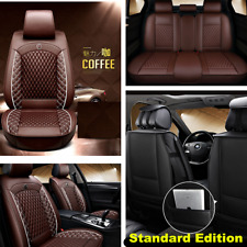 Standard Edition Full Seat Cover Front&Rear For Car SUV Truck PU Leather Coffee