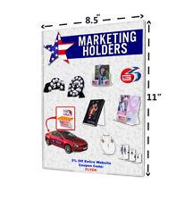 """8.5""""W x 11""""H Tru-Vu® Wall Mount Ad Frame Sign Holder (Lot of 2)"""