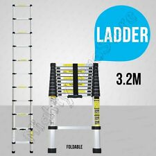 NEW 3.2M Alloy Telescopic Aluminium Ladder Alloy Extension Extendable Multi