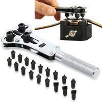 Watch Case Opener Adjustable Screw Back Remover Wrench Repair Tool Kit Set New