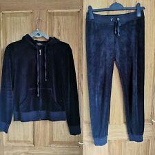 Juicy Couture Velour black label Tracksuit Size XS bottom / S top  UK 6-8 Black