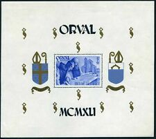 Belgium B303,hinged.Michel 580 Bl.I2. Restoration of Orval Abbey,1941.