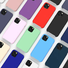 Silicone Case Tempered Glass Screen Protector Cover For iPhone 11 Pro Max XR X 8