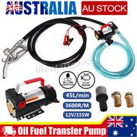 12V 45L/min Electric Bowser Fuel Transfer Pump Diesel Oil Extractor Station AU