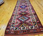 "Bohemian Antique 1920-1930s Wool Pile Natural Dye Armenian Runner Rug 3x8'9"""