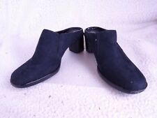 WHITE STAG Black Suede Slip-On Clogs Womens Size 7.5 Shoes