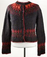 Anthropologie Relais Knitware Womens Brown Cardigan Knit Sweater Size M EUC C778