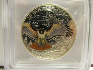2016 Canada $20 Majestic Animals Red-Tailed Hawk <> ICG PF70 Ultra Cameo
