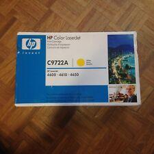 HP  GENUINE C9722A YELLOW Toner CARTRIDGE Laserjet 4600 4610 4650