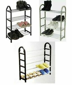New 4 & 5 Tier Shoe Rack Organiser Stand Storage Space Save Compact LightWeight