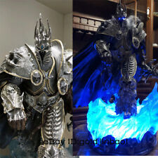 WOW Warcraft Arthas Menethil Statue Lich King Sculpture Resin Collection Led GK