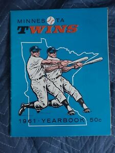 1961 Minnesota Twins Yearbook First Year Yearbook Excellent Rare