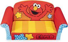 Marshmallow Furniture Children's 2 in 1 Flip Open Foam Sofa - Sesame Street Elmo