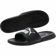 Puma Popcat Big Logo Black White Mens Sandal Slides slippers 36026510 42