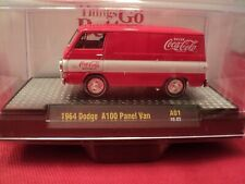 "M2 1964 Dodge A100 Panel Van ""Coca- Cola"" w/display case 1/64 scale NIB 1/9600"